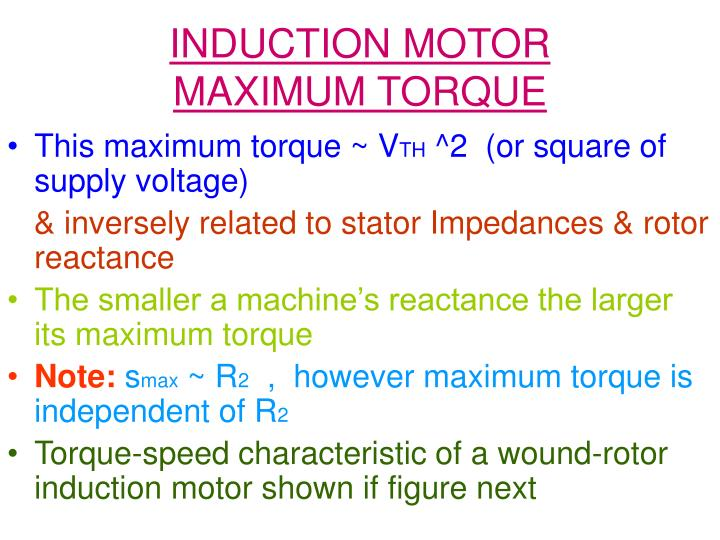 Induction motor maximum torque1