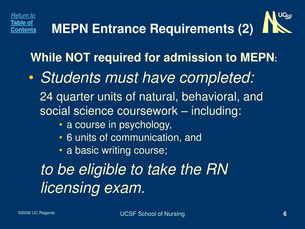 MEPN Entrance Requirements (2)