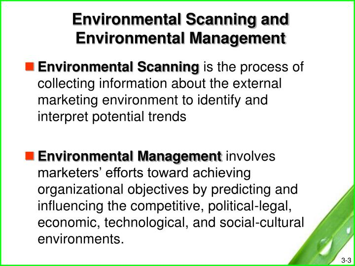 Environmental scanning and environmental management