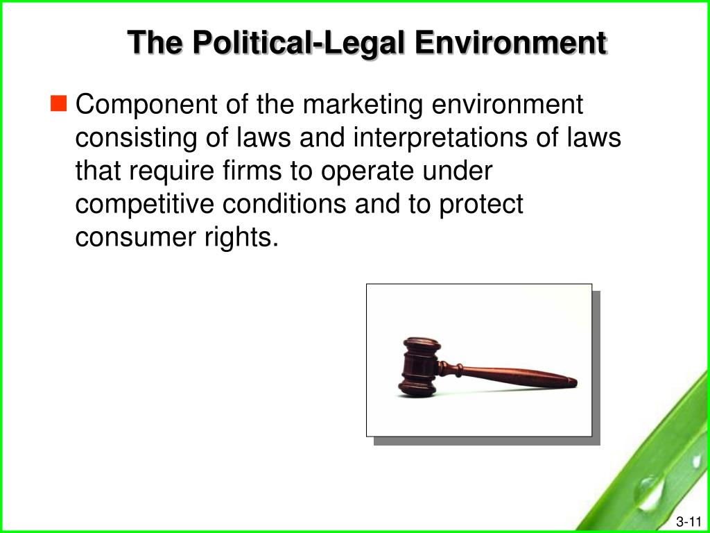 The Political-Legal Environment