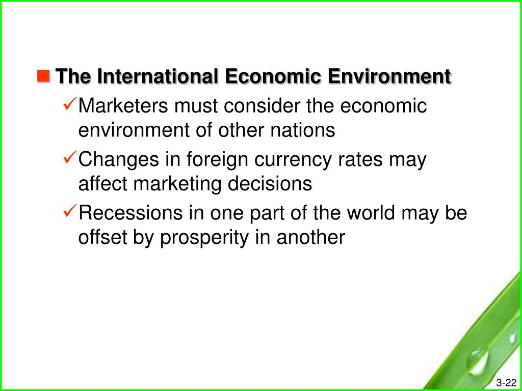 The International Economic Environment