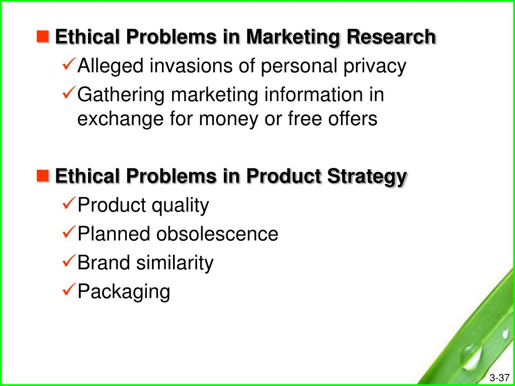 Ethical Problems in Marketing Research
