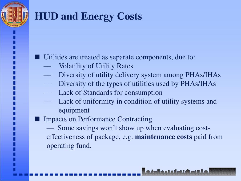 HUD and Energy Costs