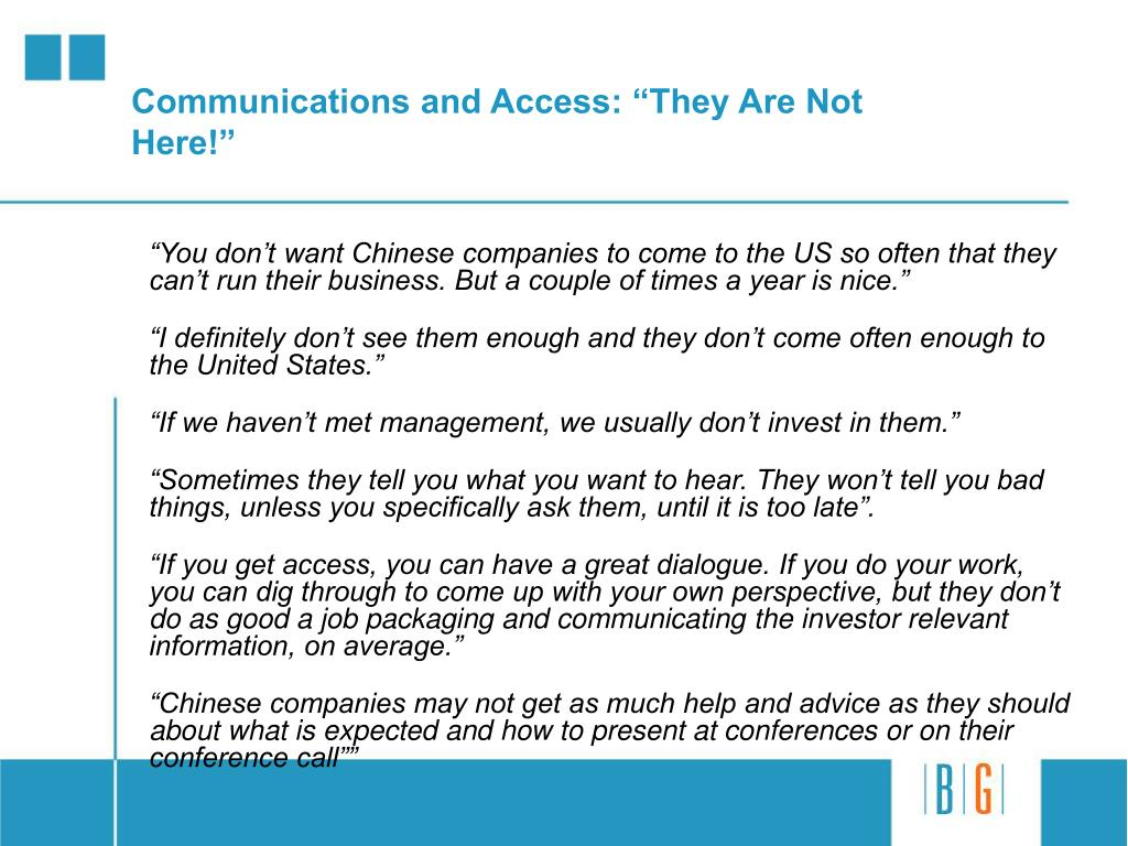 """Communications and Access: """"They Are Not Here!"""""""