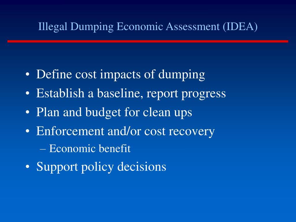 Illegal Dumping Economic Assessment (IDEA)