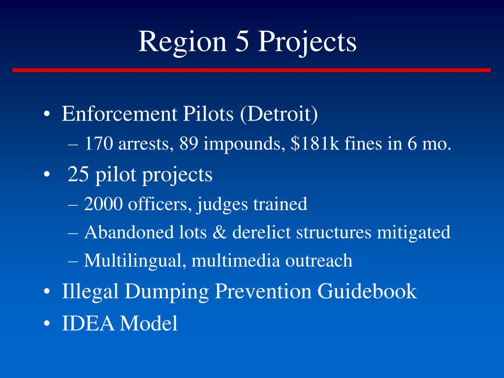 Region 5 Projects