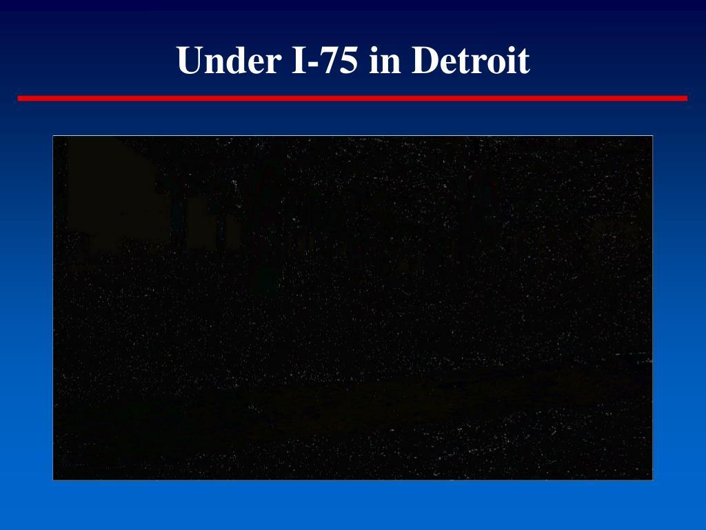 Under I-75 in Detroit