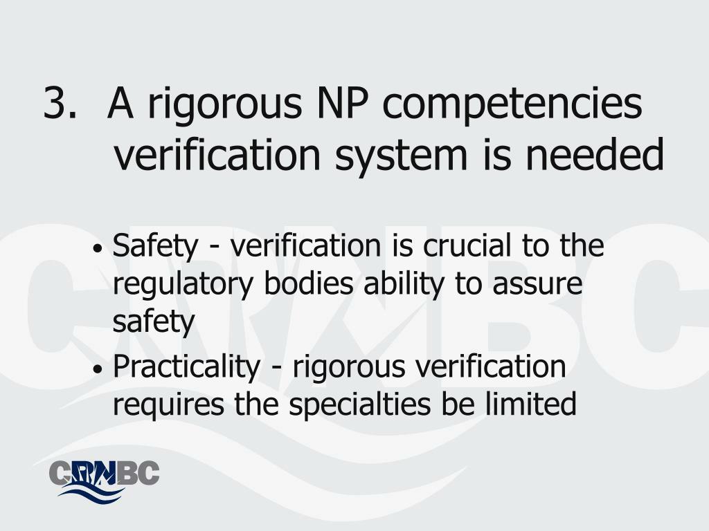 A rigorous NP competencies