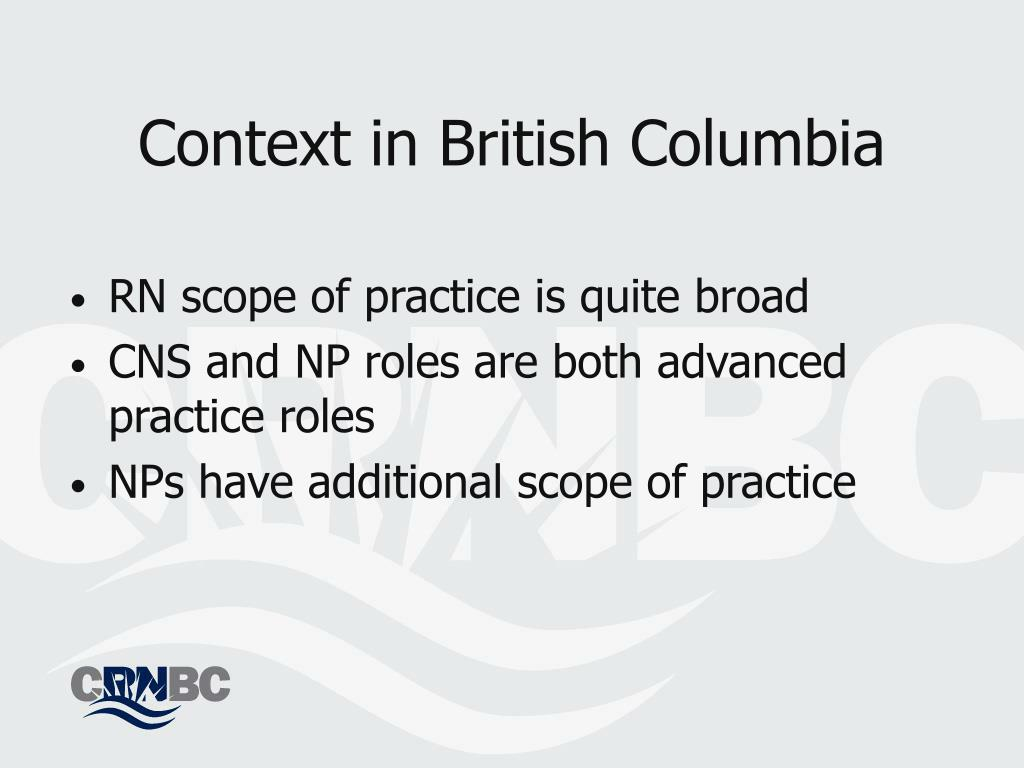 Context in British Columbia