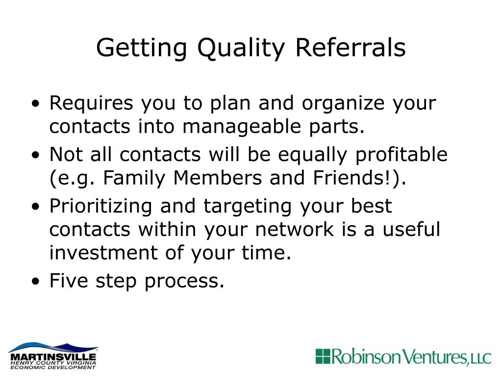Getting Quality Referrals