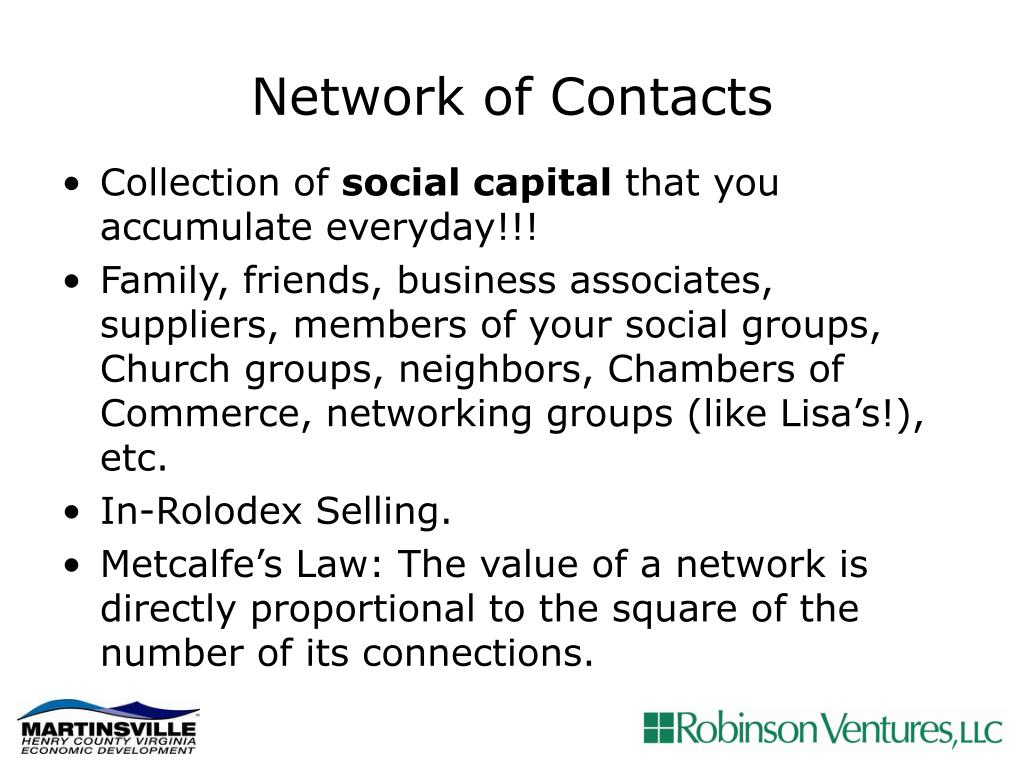 Network of Contacts