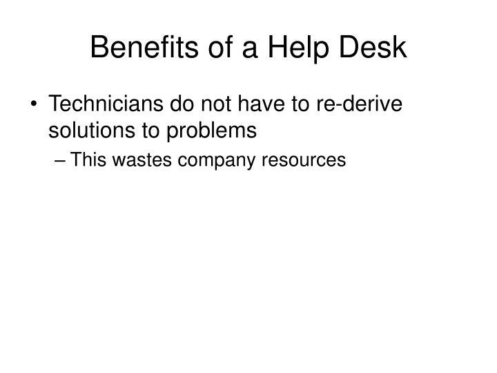 Benefits of a Help Desk