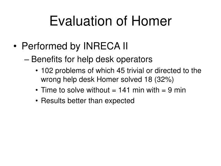 Evaluation of Homer