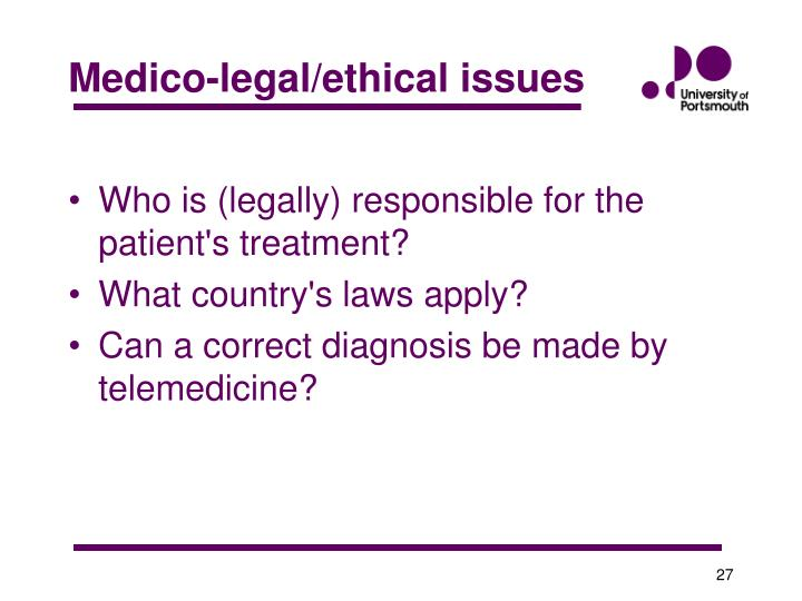 Medico-legal/ethical issues