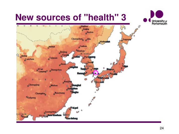"""New sources of """"health"""" 3"""