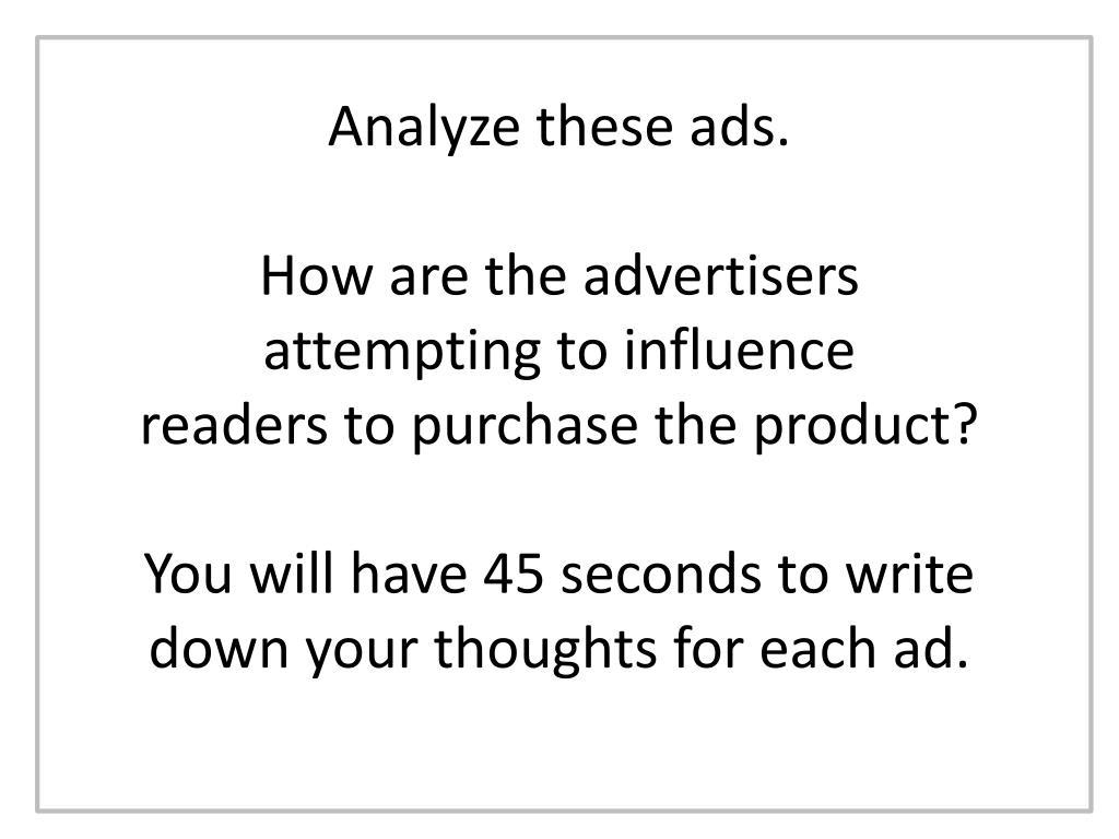 Analyze these ads.