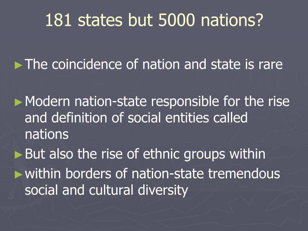 181 states but 5000 nations?