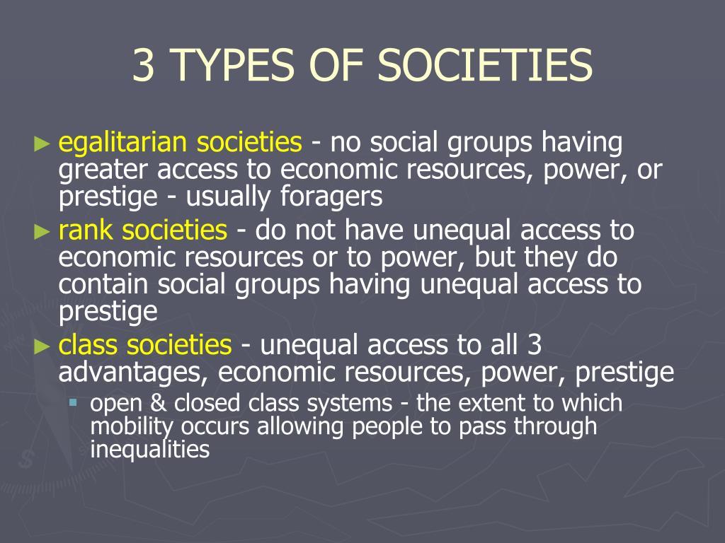 3 TYPES OF SOCIETIES