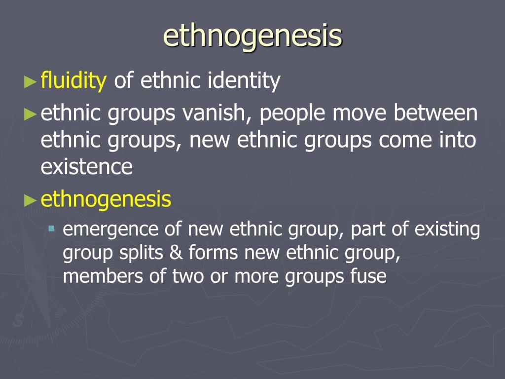ethnogenesis
