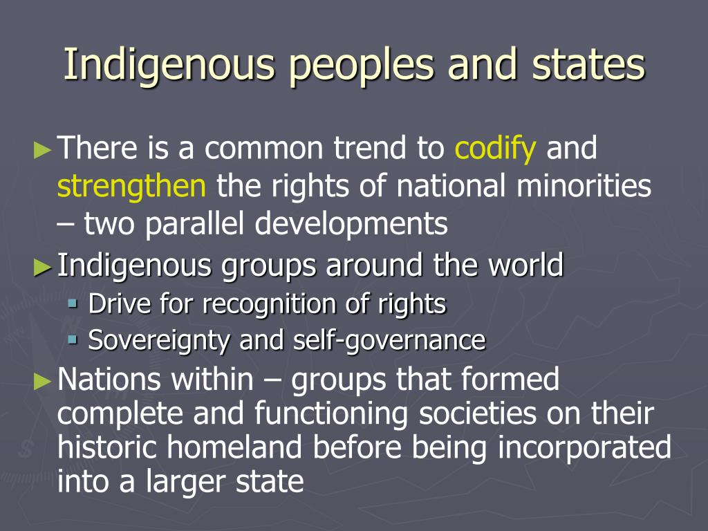 Indigenous peoples and states