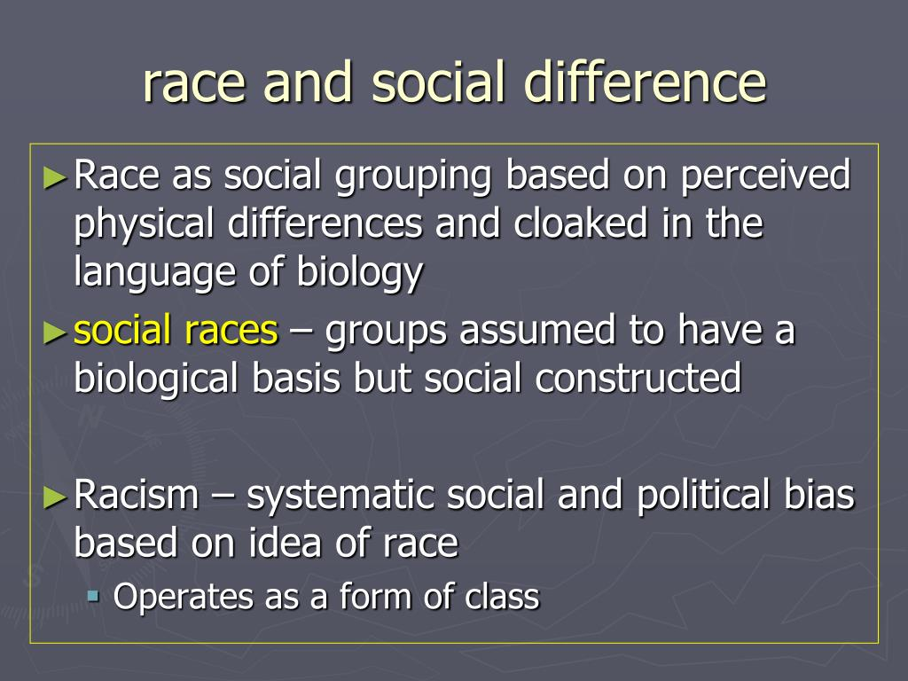race and social difference
