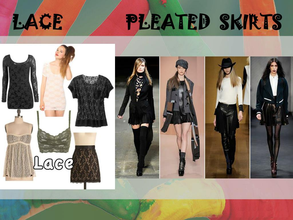 LACE              PLEATED  SKIRTS