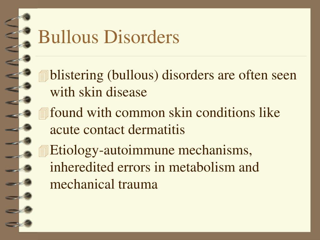 Bullous Disorders