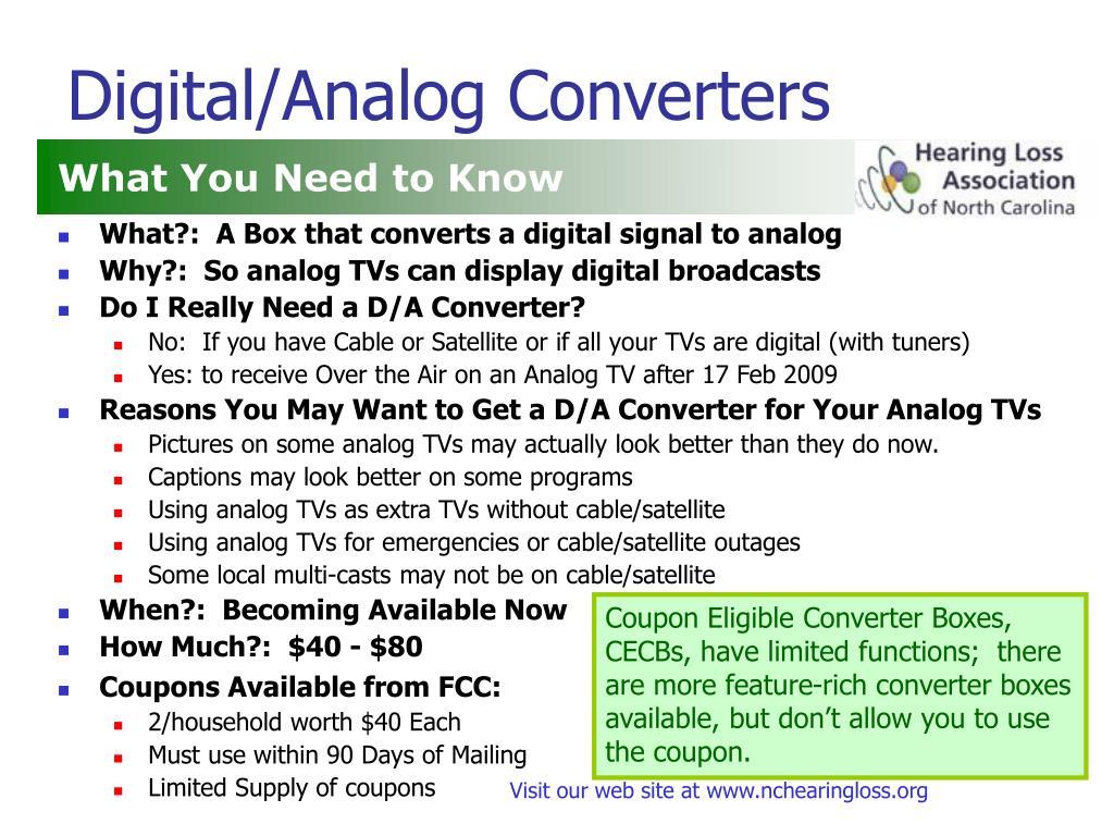 Digital/Analog Converters