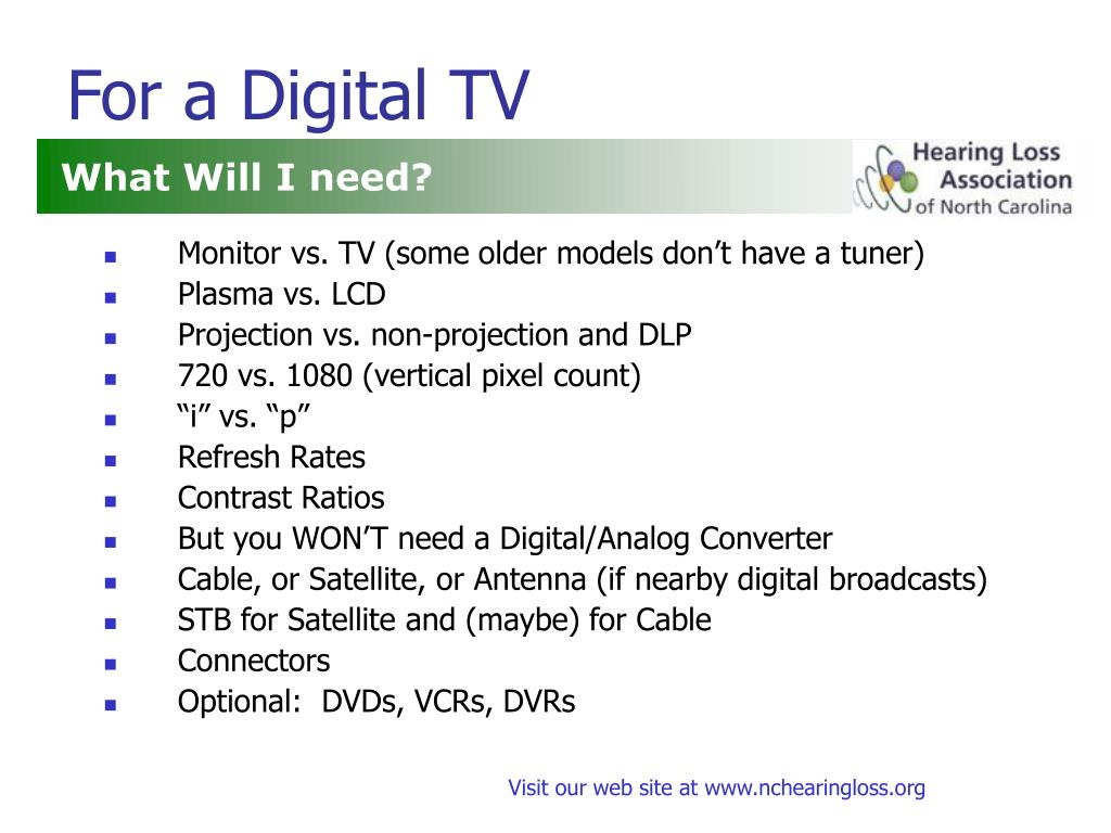 For a Digital TV