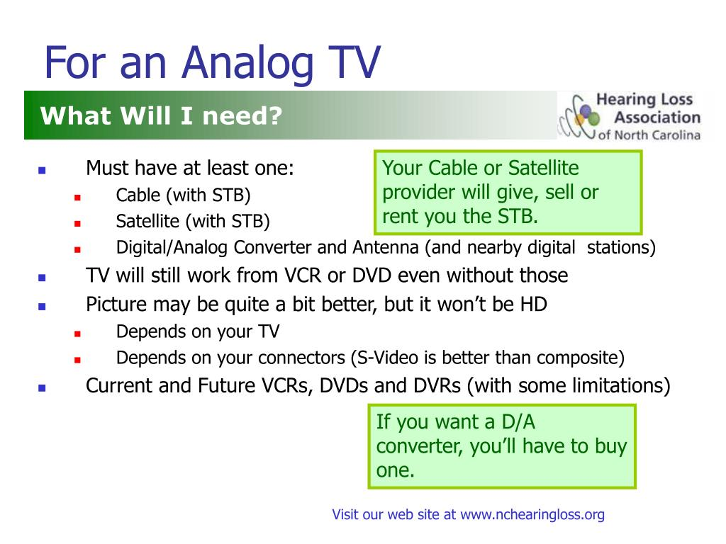 For an Analog TV