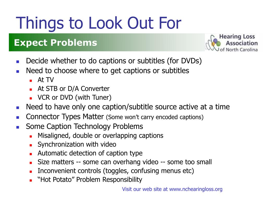 Things to Look Out For