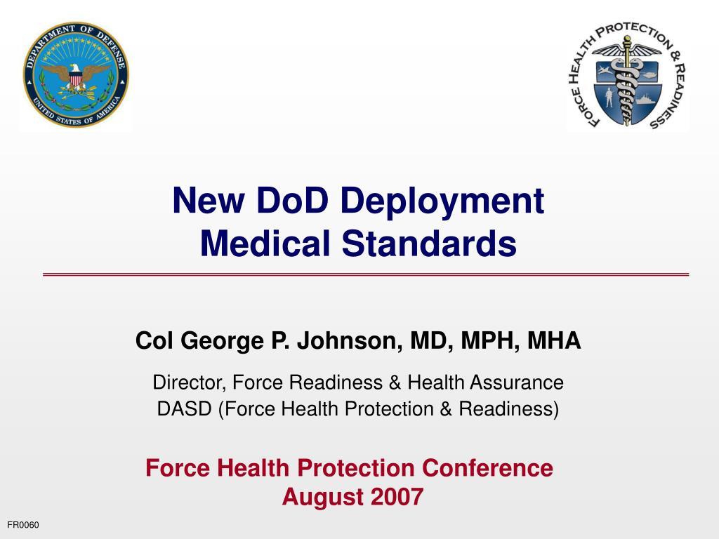 New DoD Deployment