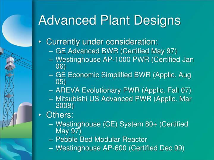 Advanced Plant Designs