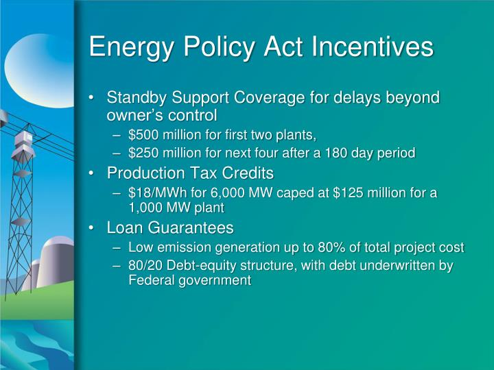 Energy Policy Act Incentives