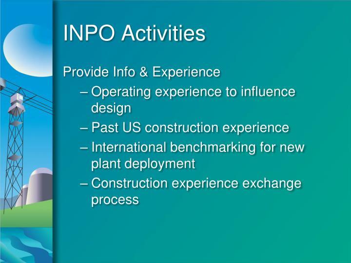 INPO Activities