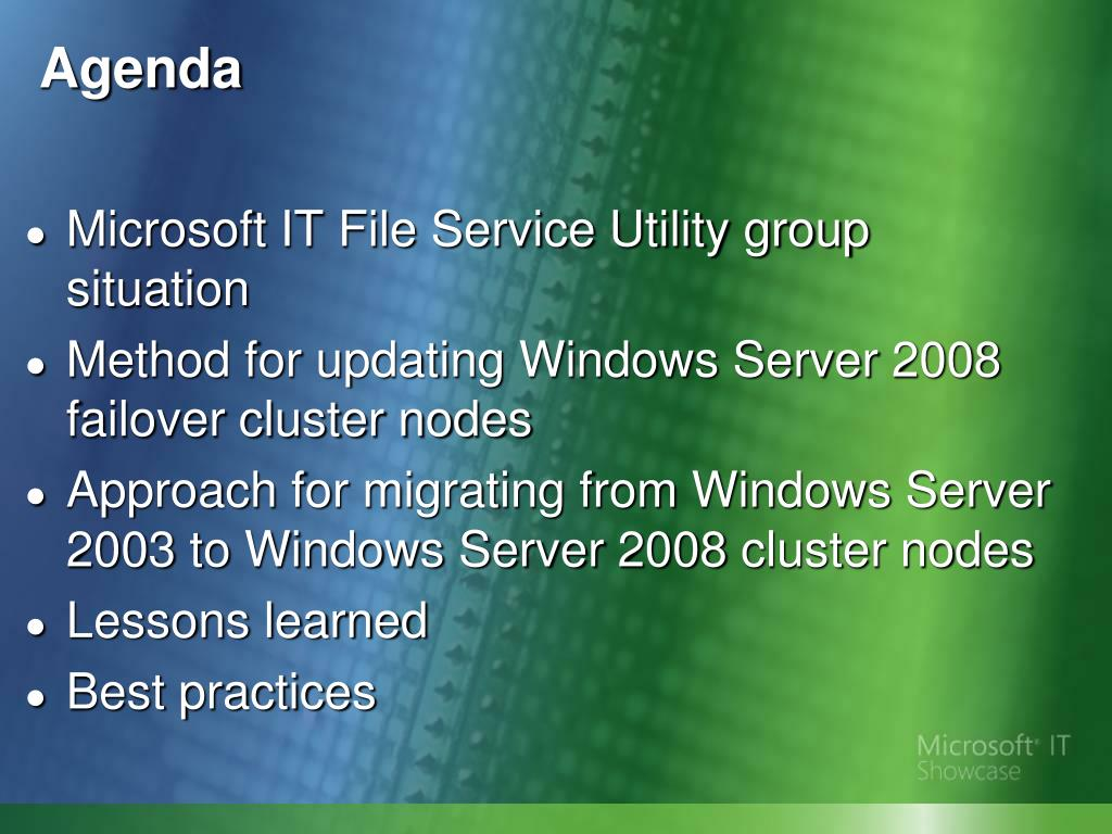 Microsoft IT File Service Utility group situation