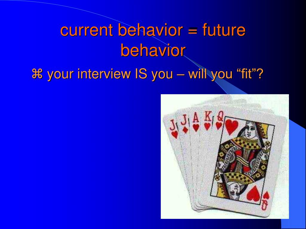 current behavior = future behavior