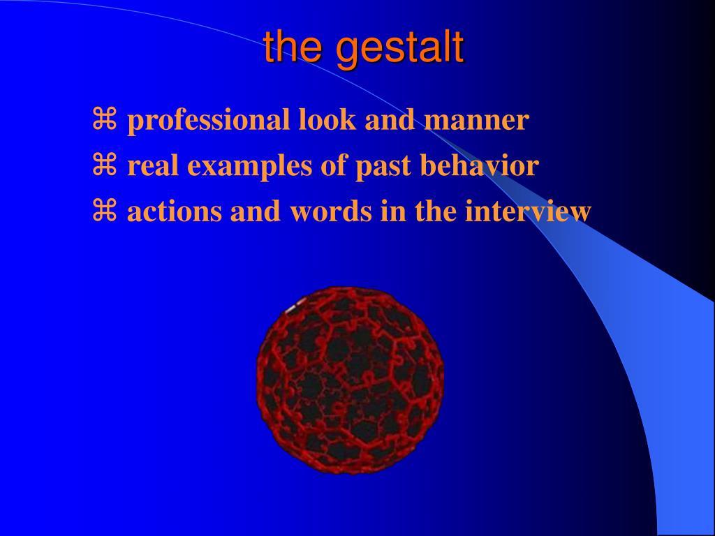 the gestalt