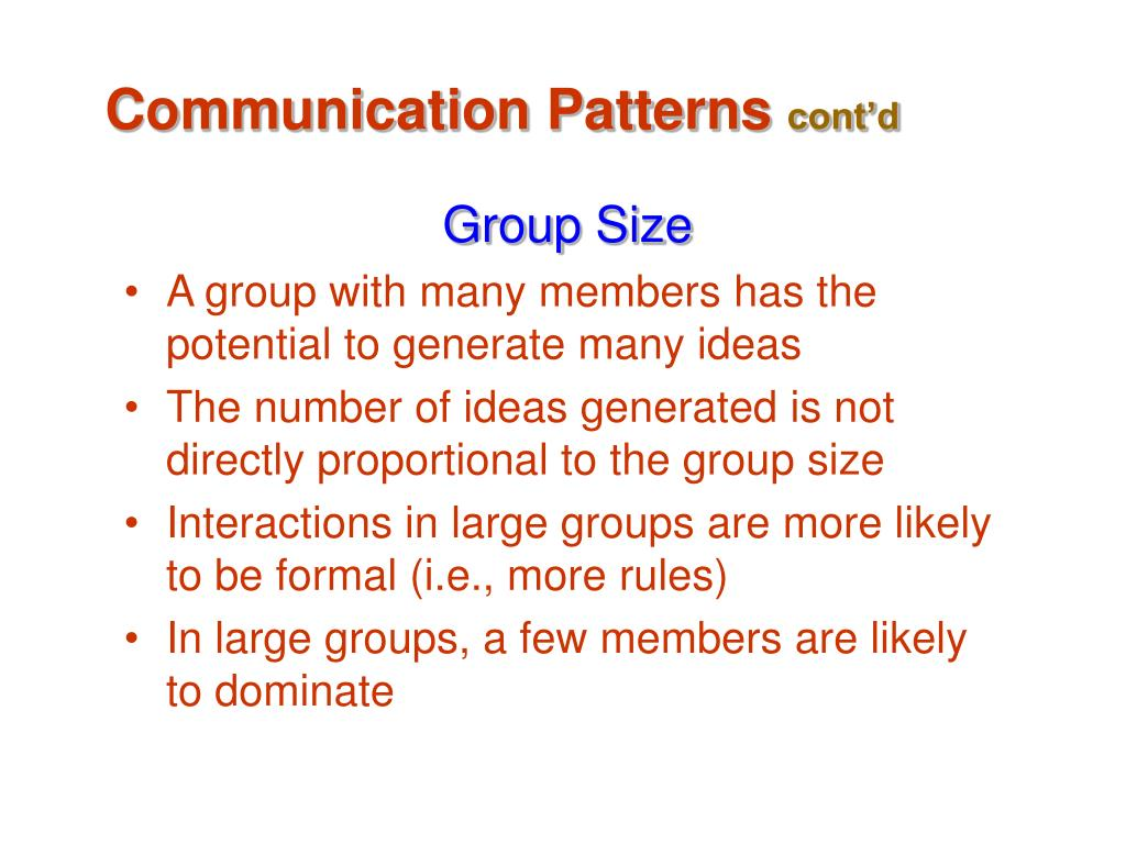 Communication Patterns
