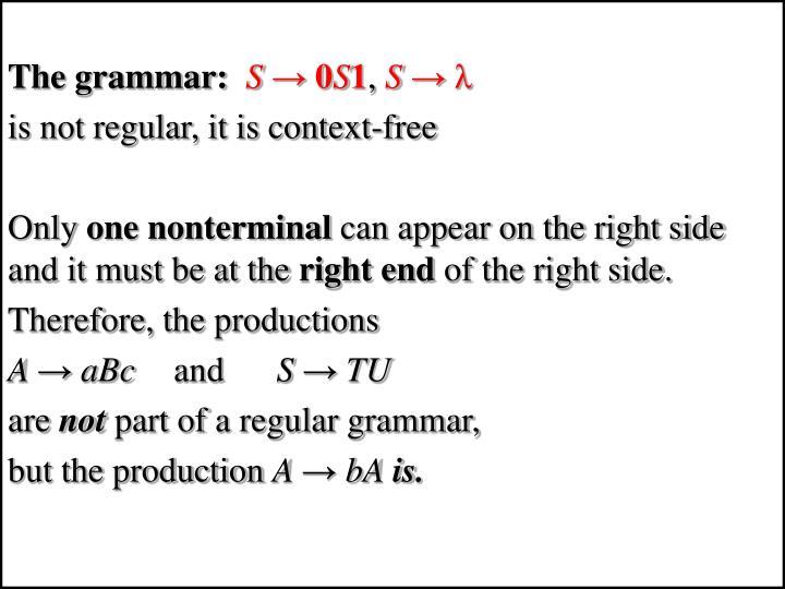 The grammar: