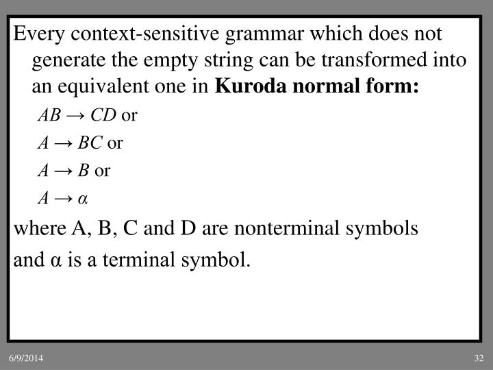 Every context-sensitive grammar which does not generate the empty string can be transformed into an equivalent one in