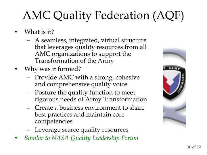 AMC Quality Federation (AQF)