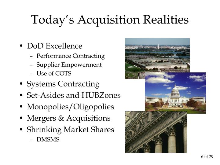 Today's Acquisition Realities
