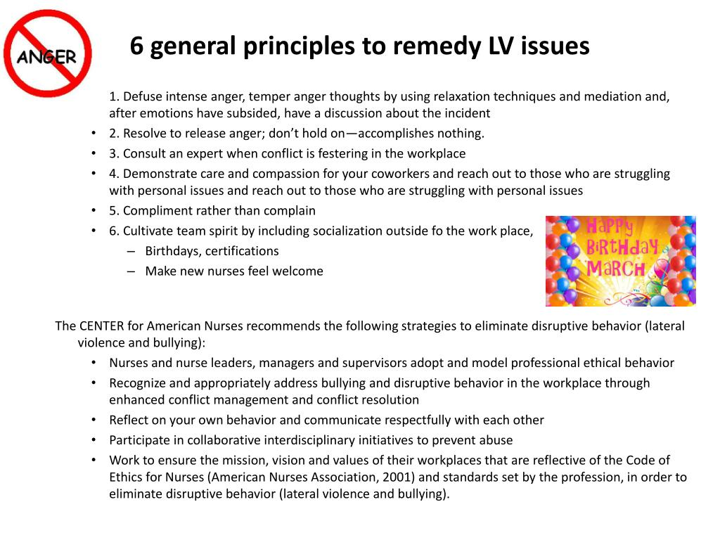 6 general principles to remedy LV issues