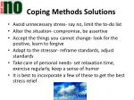 coping methods solutions