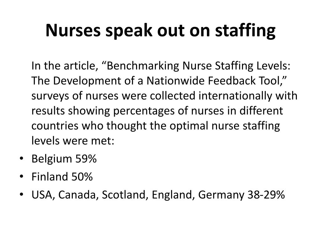 Nurses speak out on staffing