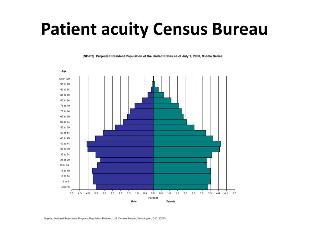 Patient acuity Census Bureau