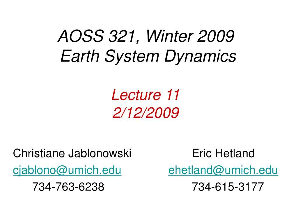 AOSS 321, Winter 2009