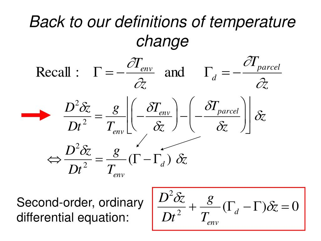 Back to our definitions of temperature change