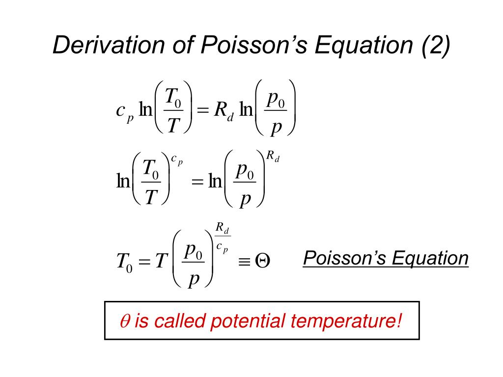 Derivation of Poisson's Equation (2)